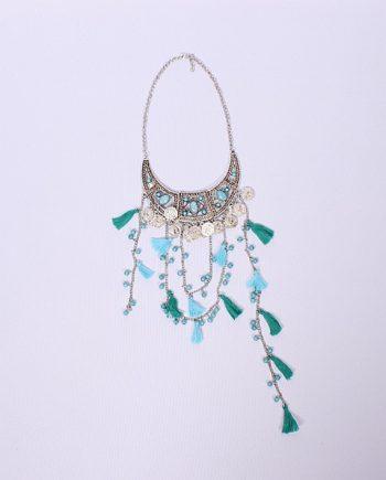 Necklace boho fringed