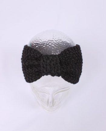 Headband knitted zwart