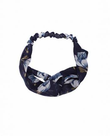 Headband bloem blauw