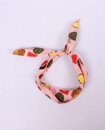 Headband fruit roze