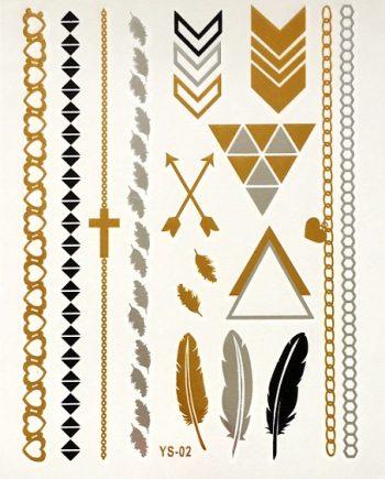 Waterdichte tattoo stickers triangle