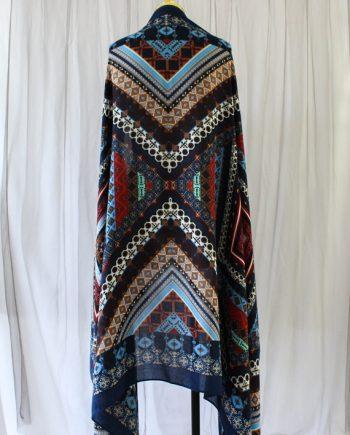 Pareo bohemian blauw fringe