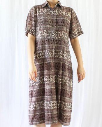 Vintage jurk boho bruin