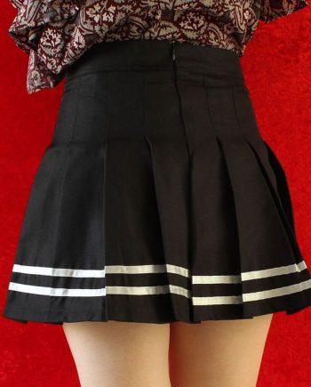 Stripe rok zwart wit