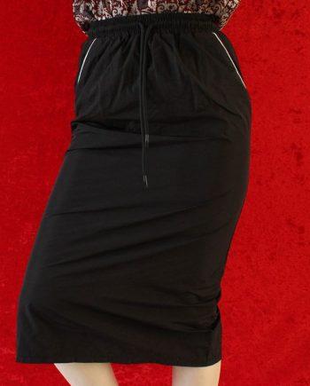 Zwart rok wit stripe