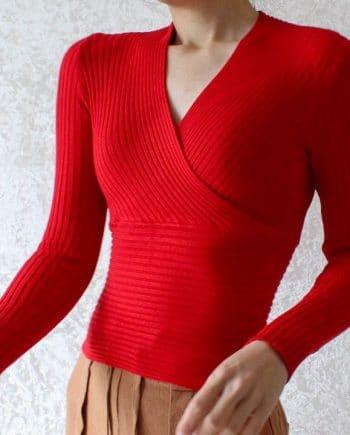 Basic long sleeves rood