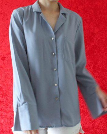 Grijs blauw blouse