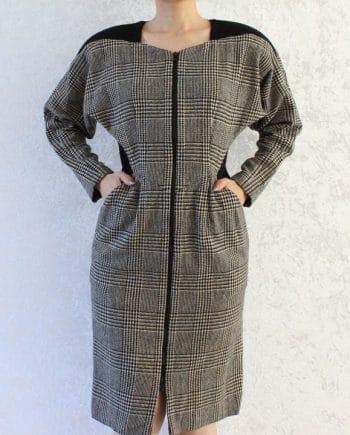Vintage jas classic zwart pattern