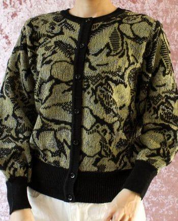 Vintage trui geel zwart