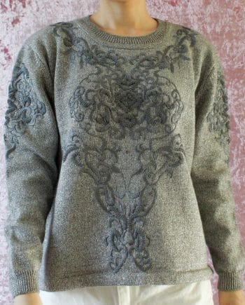 Vintage trui grijs