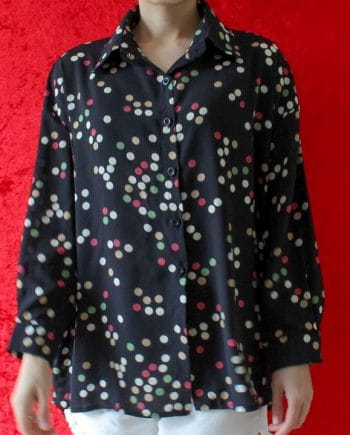 Zwart blouse polka