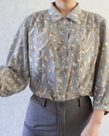 Vintage blouse ster hart T695
