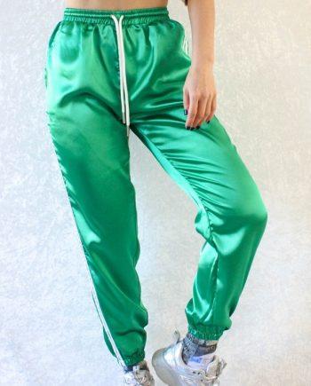 Streep broek groen