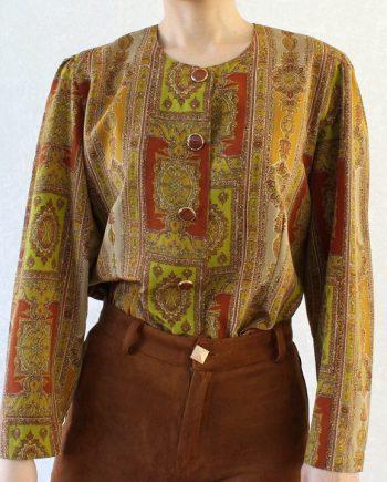 Vintage blouse bohemian pattern T608