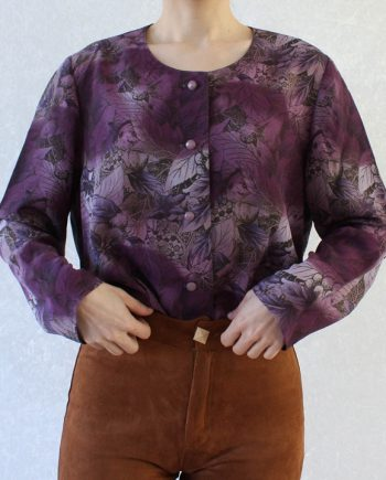 Vintage blouse paars lila T691