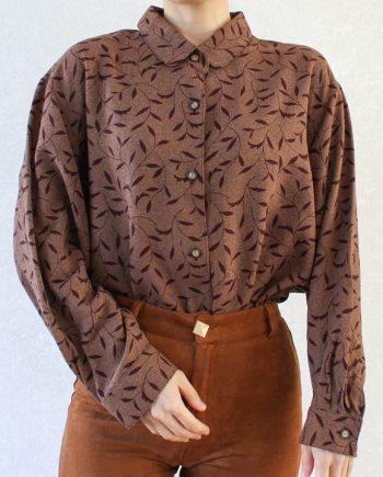 Vintage blouse rood blad T694