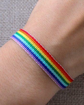 Regenboog armbanden