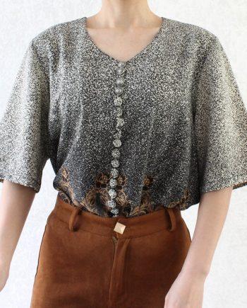 Vintage blouse multi buttons T718