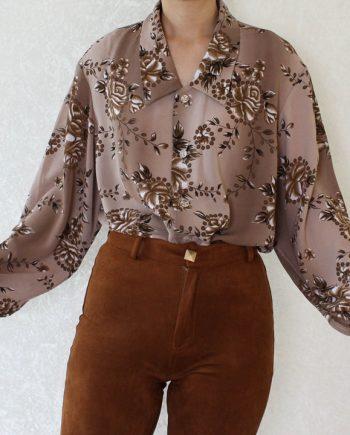 Vintage blouse bloem T804