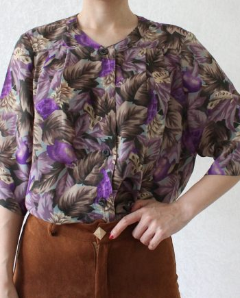 Vintage blouse fruit lila T720