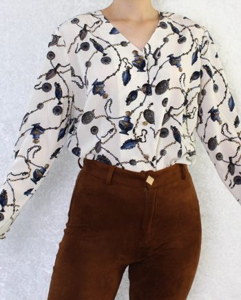 Vintage blouse ketting parfum T803