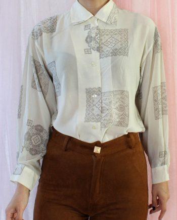 Vintage blouse lace pattern T360