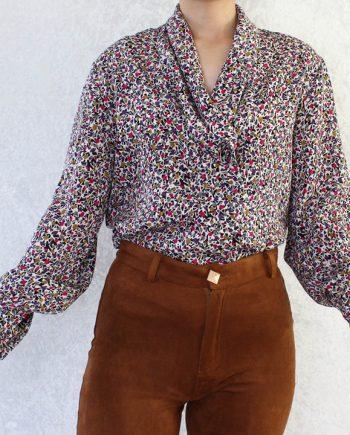 Vintage blouse polka T714