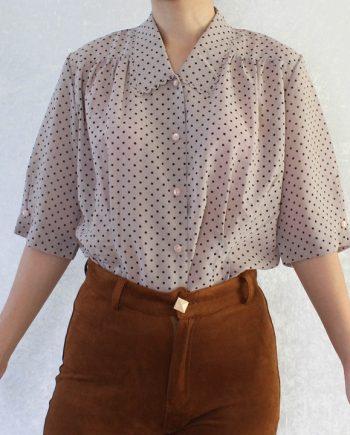 Vintage blouse polka dot T820