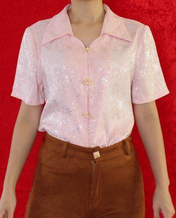 Vintage blouse Asia roze T623