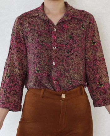 Vintage blouse abstract roze T835