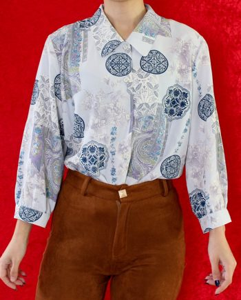 Vintage blouse boho bloem T839