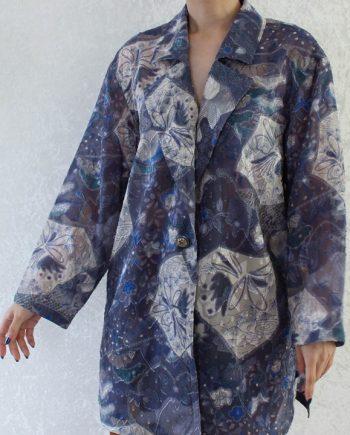 Vintage blouse grijspaars T816