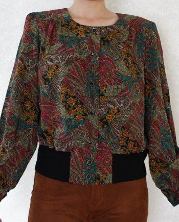 Vintage blouse gypsy bloem T824