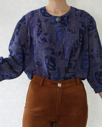 Vintage blouse paars blauw T816