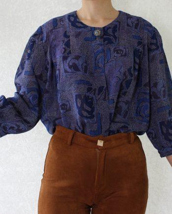 Vintage blouse paars blauw T816