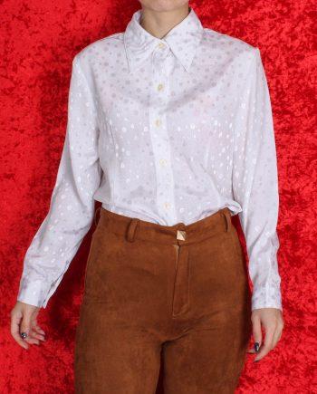 Vintage blouse basic wit T831