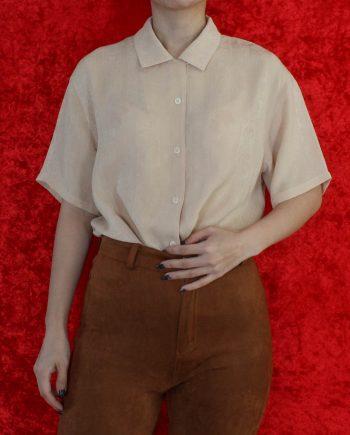 Vintage blouse beige T823