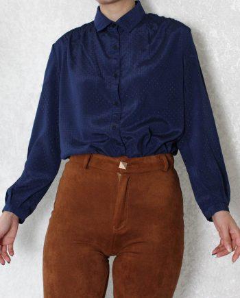 Vintage blouse blauw T833