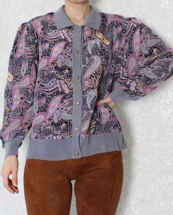 Vintage blouse boho lila T330