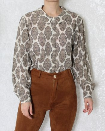 Vintage blouse gypsy beige T827