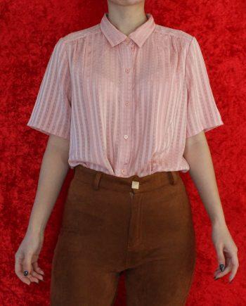 Vintage blouse stripe roze T717