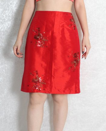 Vintage rok Chinese rood T833