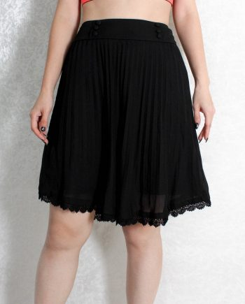 Vintage rok lace pleated T833