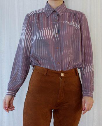 Vintage blouse stripe wit T822