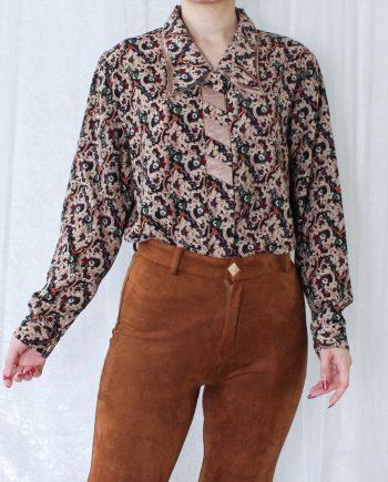 Vintage blouse bohemian beige T708