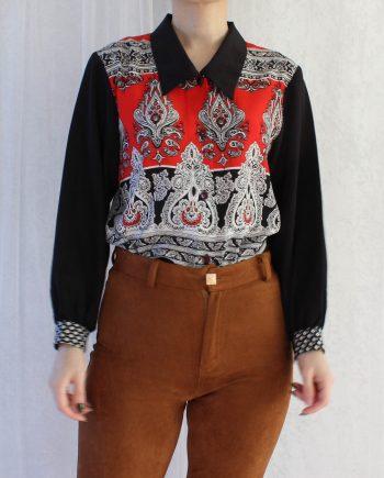 Vintage blouse gypsy bloem T315