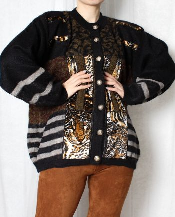 Vintage trui tiger pattern T300