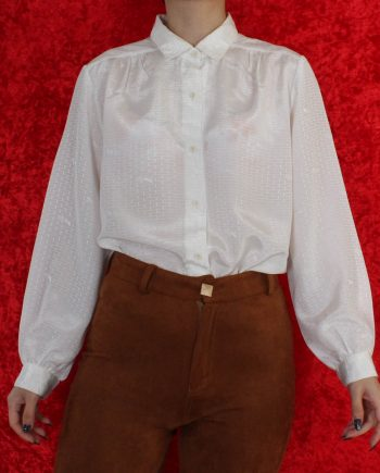 Vintage blouse basic wit T818