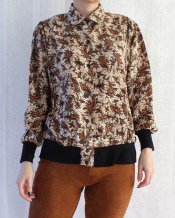 Vintage blouse bohemian bruin T363