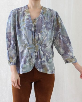 Vintage blouse paars blauw T690.2